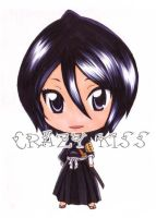 Rukia Kuchiki copic color style by CrezyKiss