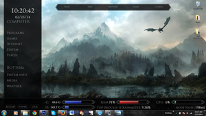 My Skyrim Desktop by XRosewaterX