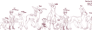 Species Height Comparisons {for your convenience} by PhloxeButt