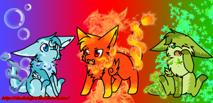 Elemental Misxes: The Trio by DevilsRealm