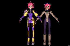 'Blade Kitten' Unused costumes pack XPS by lezisell