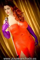 Jessica Rabbit Bodypaint by Kakelicious