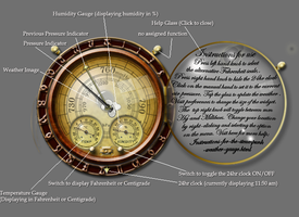 Steampunk Weather Gauge by yereverluvinuncleber