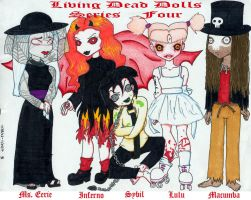 Living Dead Dolls Series Four by spookydarling