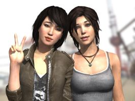 Tomb Raider 2013: Friendship Forever by Irishhips