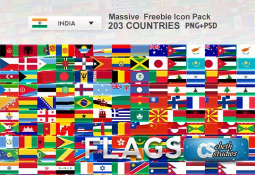 Country National Flags Icons by cheth