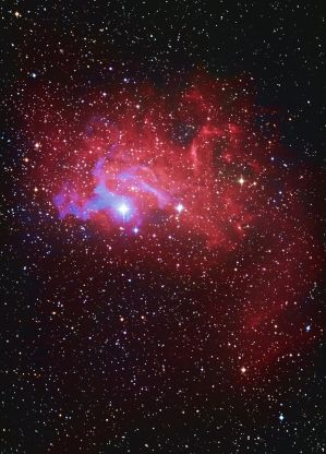 The Flaming Star Nebula IC 405 by Captain-Marmote
