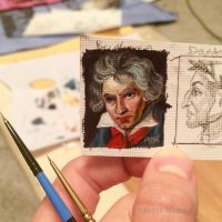 Minuscule Ludwig van Beethoven (to show scale) by Paintsmudger