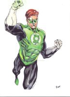 Greenlantern Robertatkins Sketch Copiccolor by FlatsNColors