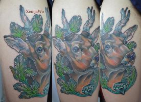 Tattoo - Deer by Xenija88