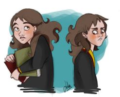 HP: Hermione Sketches by Loleia