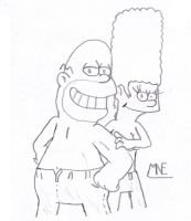 In Jeans - Homer and Marge by MrNintMan