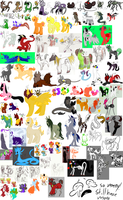 Adopts that have been SOLD part 1 by Skull-gum