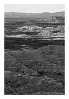 Badlands in Black and White by Julian-Bunker