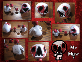 The Binding of Isaac Monster Figure Mr. Maw by GrapeFruitPunch