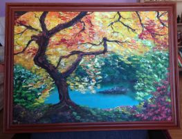oil painting in canvas on board by rumik00