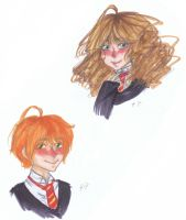 :Ron: Doodle :Hermione: by chocolateXchocolate