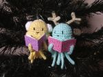 Caroling jellyfishes amigurumi ornaments pattern by AnneKo