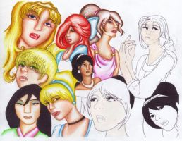 Disney Princesses by Ellyanna