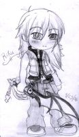 Random Sketch 114 - Riku by Anigirl5