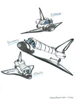 Chibi Space shuttles by NeoLupeTrooper9893