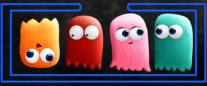 Ghosts (Pacman) by Kerfufflin
