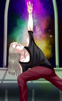 Commission - Space Yoga by EjLowell