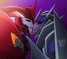 TFP: Knockout x Soundwave by Tone-chan