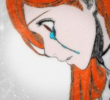 Orihime..Crying by Chaos-Angel142