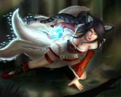 Spirit Rush Ahri by delicatexbliss
