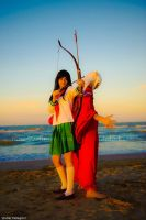 Inuyasha and Kagome by DollMartyCosplay