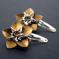 Bronze Steampunk Barrettes by Utopia-Armoury