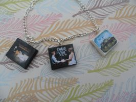 Pierce the Veil album charm bracelet/keychain by InsaneJellyBean95