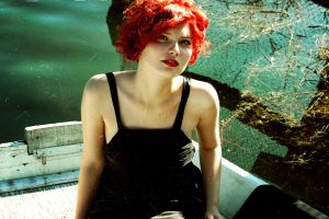 monroe. red by Michalych