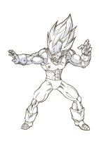 vegeta ssj by bloodsplach