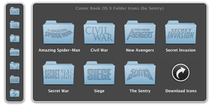 Comic Books OS X Folder Icons by Sentry15