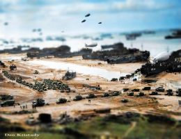 Normandy beach miniature by DeoKristady