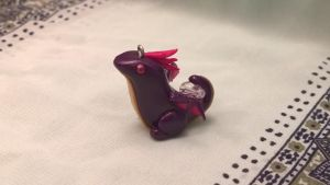 Purple Winged Dragon Charm by Airy-Styles