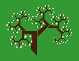 Fractal tree (green background) by a-to-b