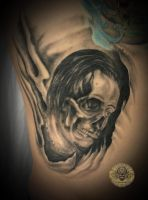 horror skull tattoo by 2Face-Tattoo