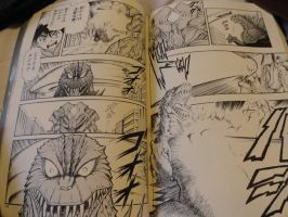 Godzilla 2000 Manga Final Fight Shot 10 by GIGAN05