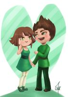 Buttercup and Butch by cartoonmaniack
