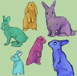 rabbits or somet hing by Green-Day28