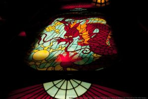 HotR : Stained Glass Dragon 01 by taeliac-stock