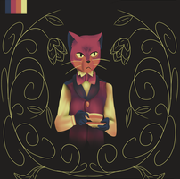 Limited Palette: The Baron from 'The Cat Returns' by SpacePie