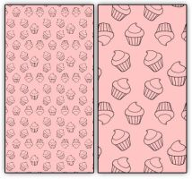 Cupcake Pattern Manga Studio and Photoshop by easycomics