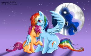 Rainbow Dash and Scootaloo by Sashatiainen