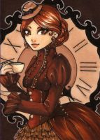 ACEO 98: 'DRINK ME'- Tea by Forunth
