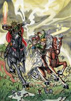 Twilight Princess - Horse Battle by Twinkie5000
