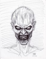 Zombie Pen Sketch 2-21-2013 by myconius